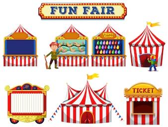 A Set of Fun Fair Tent