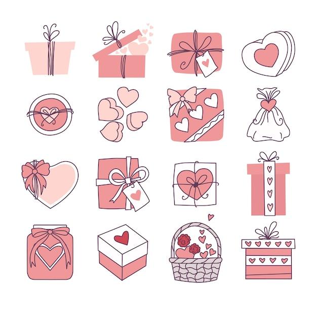 Набор подарков на день влюбленных и свадьбу. оформление приглашений и открыток.