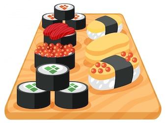 A Set of Japanese Sushi