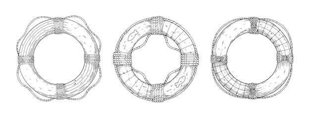 救命浮環のセット。