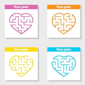 Набор лабиринтов. игра для детей. пазл для детей. головоломка лабиринт