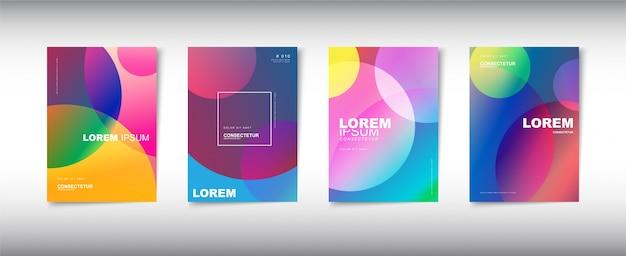 Набор современного абстрактного дизайна обложки