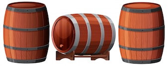 A Set of Oak Barrel