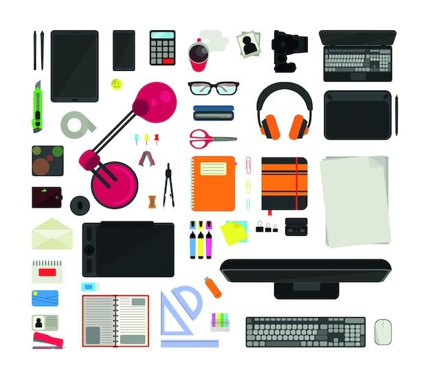 Комплект оргтехники и канцелярских товаров