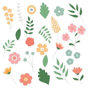 식물과 꽃 세트
