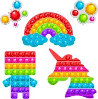 Набор из шести модных сенсорных игрушек. детская антистрессовая игра разной формы.