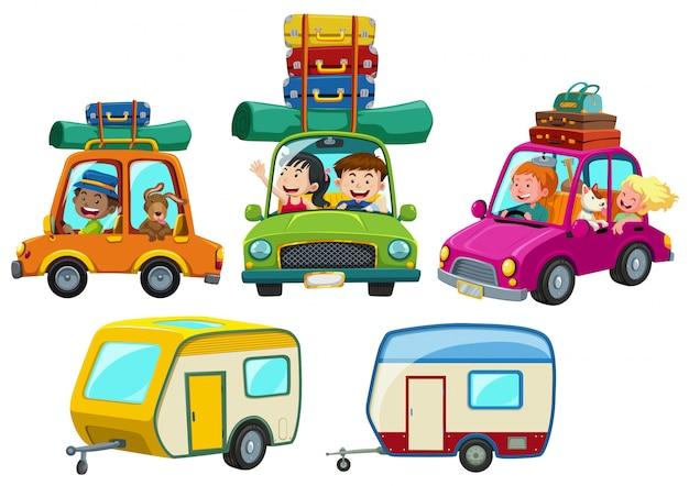 Набор туристов по дороге