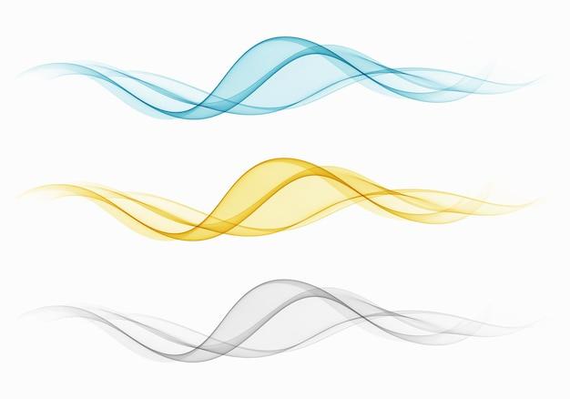 Набор прозрачных волн