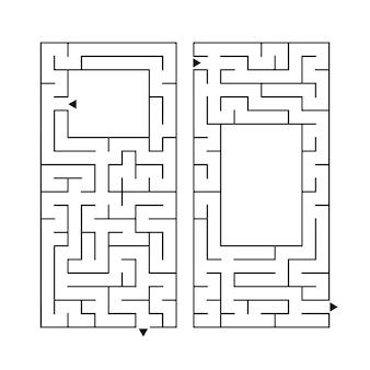 Набор из двух прямоугольных лабиринтов. Premium векторы