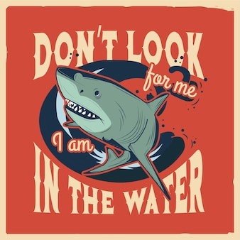 Иллюстрация акулы с текстом вокруг нее jpg handdrawn