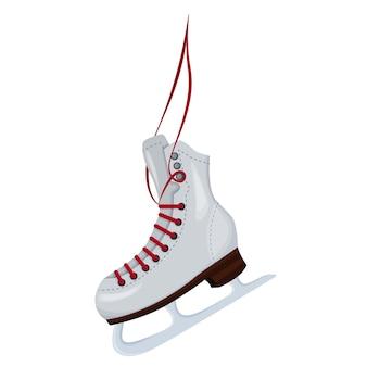 白い背景で隔離のアイコンベクトルイラストをスケートするための靴