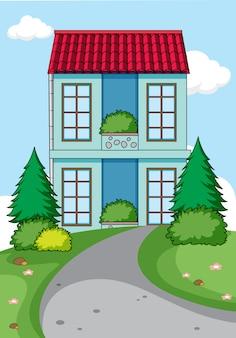 Простой дом на фоне природы