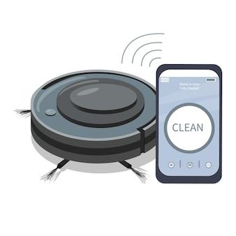 로봇 청소기를 제어하는 스마트폰 앱