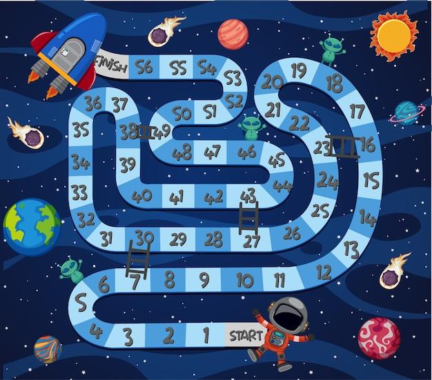 Шаблон игры в космическом лабиринте