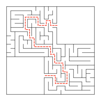Квадратный лабиринт.
