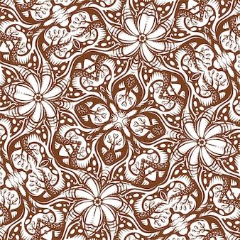 Квадратный орнамент текстуры, рисованной иллюстрации