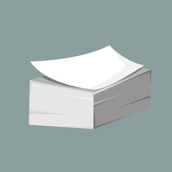 紙の束。フラットスタイルのベクトル図