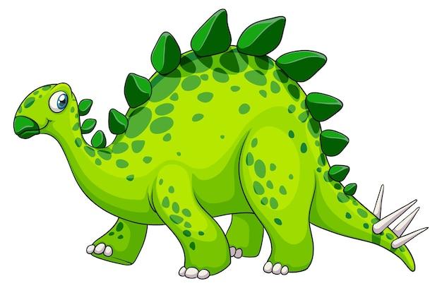 ステゴサウルス恐竜の漫画のキャラクター 無料ベクター