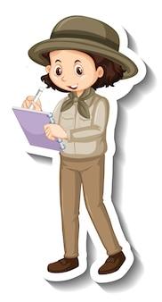소년 만화 캐릭터의 스티커 템플릿