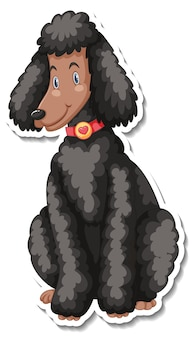 개 만화 캐릭터의 스티커 템플릿