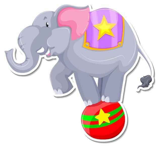 Шаблон стикера мультяшного слона