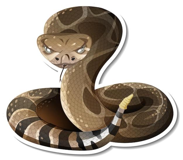 Шаблон стикера змея мультипликационного персонажа