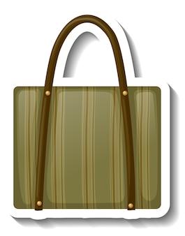 分離されたユニセックスのハンドバッグとステッカーテンプレート