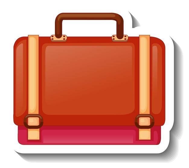 유니섹스 핸드백이 분리된 스티커 템플릿