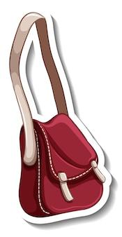 여성 크로스바디 가방이 분리된 스티커 템플릿