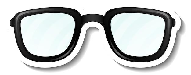 眼鏡メガネ付きステッカーテンプレート