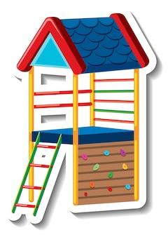 어린이 놀이터 장비가 있는 스티커 템플릿
