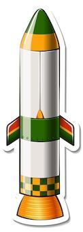 ロケットスペース漫画が分離されたステッカーテンプレート