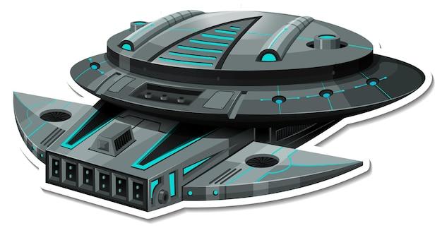 Ufo 또는 전투기가 격리된 스티커 템플릿
