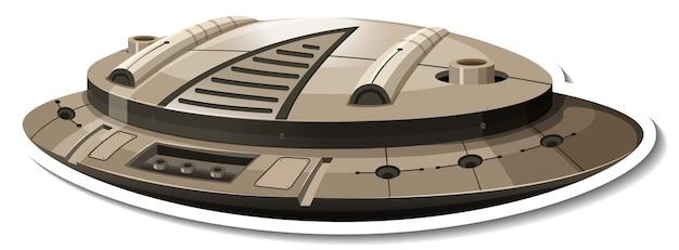 Ufoまたは戦闘機が分離されたステッカーテンプレート