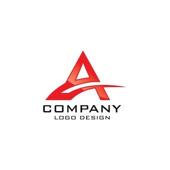 Aシンボル抽象的な会社のロゴデザイン