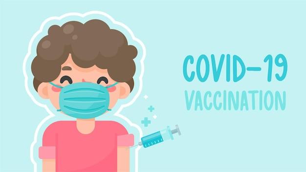 Шприц с вакциной против covid-19