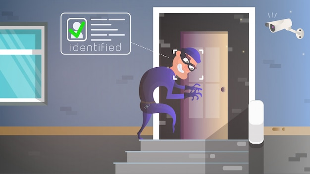 泥棒が家に忍び込む。