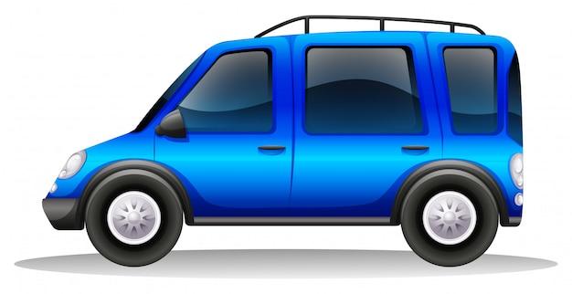 彩色されたファミリーカー