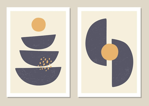 最小限のスタイルで抽象的な幾何学的形状のトレンディなセット