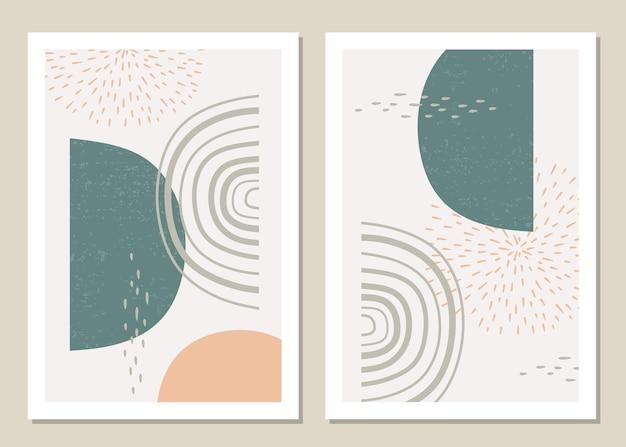 Модный набор абстрактных геометрических фигур в стиле минимализм