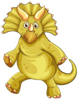 Мультяшный персонаж динозавра трицератопса