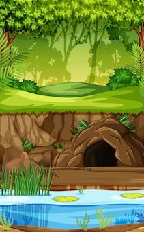 Фон тропического леса