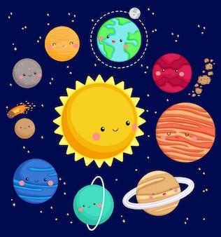 銀河の太陽系のベクトル