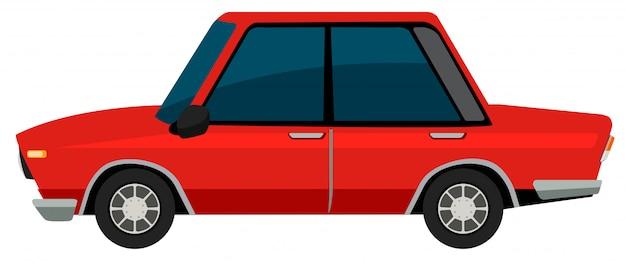 흰색 배경에 vinatge 자동차