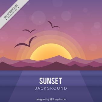 A warm sunset background