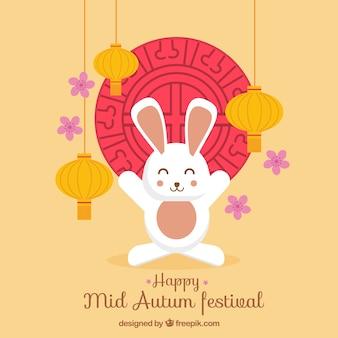 白いウサギ、中秋祭