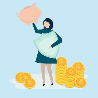 A woman planning her personal finance