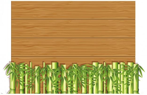Деревянный шаблон с бамбуком