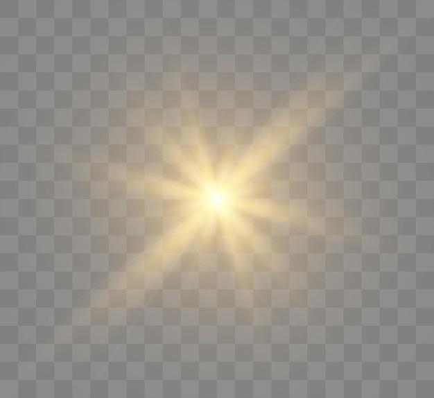 黄色に輝く光