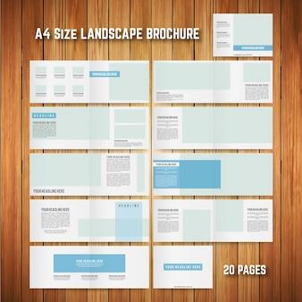 A4 size modello di brochure paesaggio